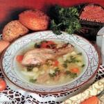 Куриный суп с фасолью и луком